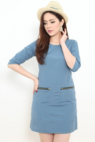 Beverly 60s Dress in Blue