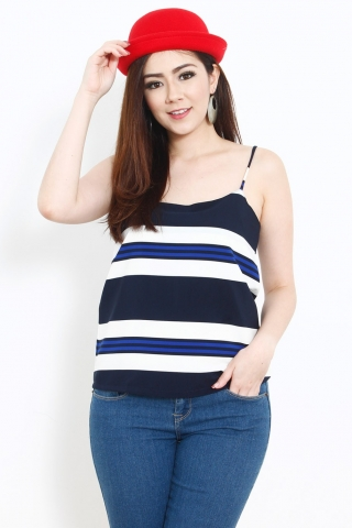 Antoinette Top In Nautical Blue