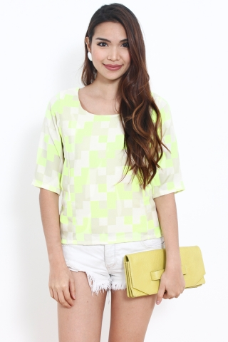 Winstone Top in Neon Pixel