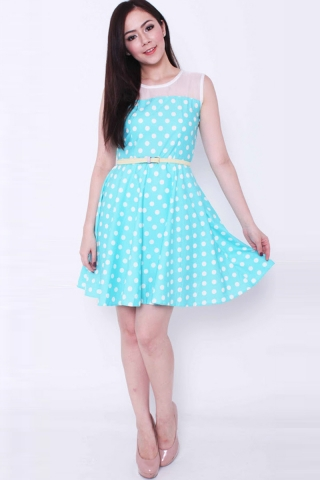Let's Party in Macaroon Mint  (1 piece left in L)