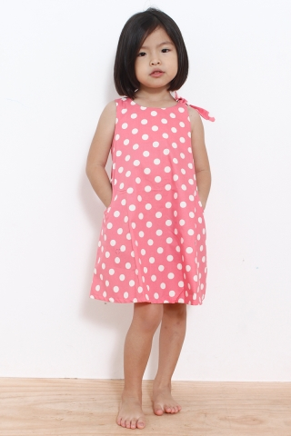 May in Polka Dot Pink  (Little Charm Girl)