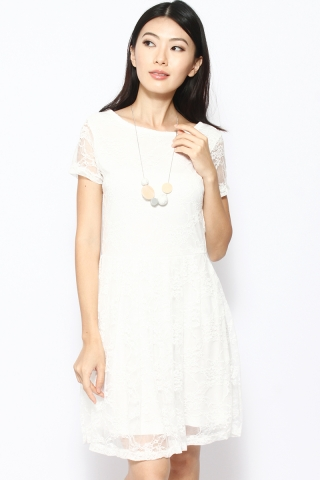 Georgette in White (Reversible)