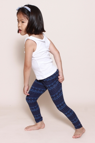 PlayDate |  Navy Tribal Leggings
