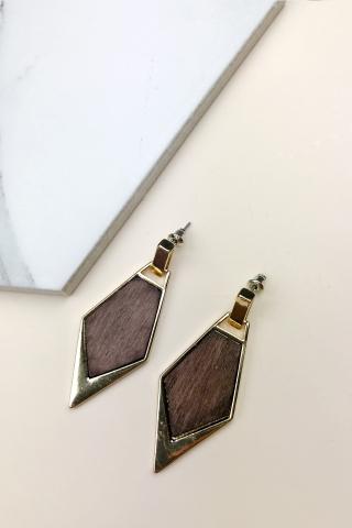 Crisp Firewood Earrings