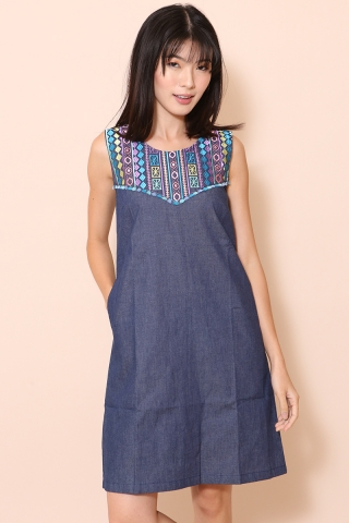 [EW] Bohemian Cleo in Denim Dark Wash