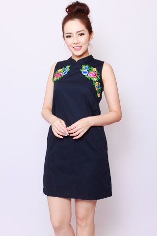 [Embroidery Works] Zain Sheath in Midnight