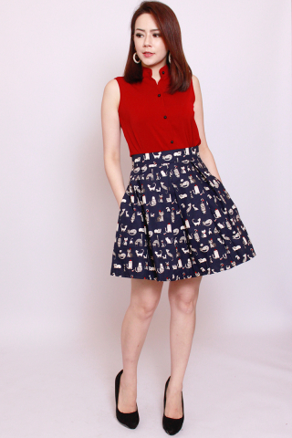 Vonce Skirt in Sassy