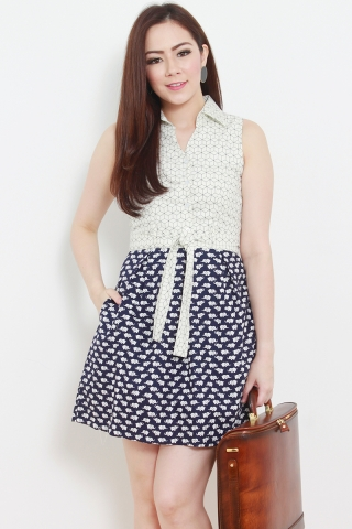 Hexagon Monotoned Dress