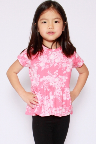 PlayDate | Candy Floss Peplum Top (Girls)  (Last piece in size 1)