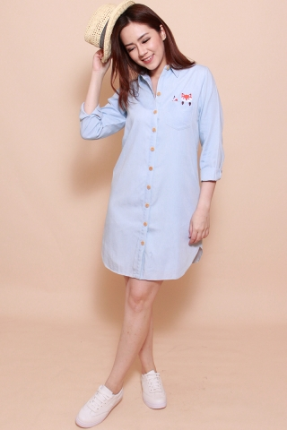 *BACKORDER2*[EW] Funny Fabian - The Fox Shirtdress