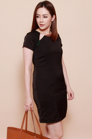 Martini Shift Dress in Black