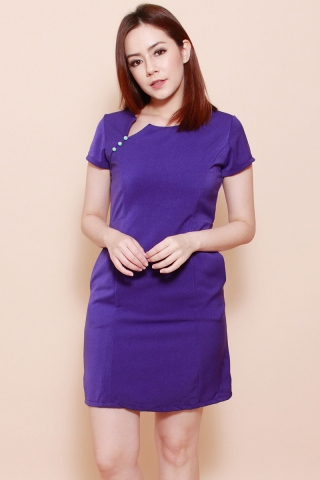 Martini Shift Dress in Royal Purple