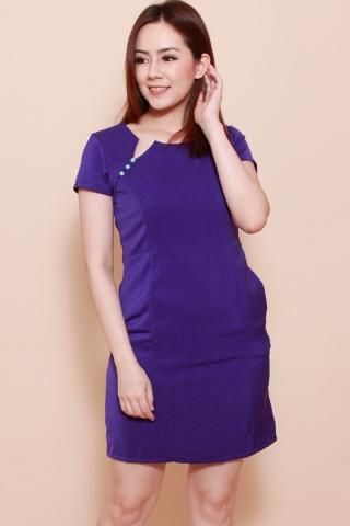 Martini Shift Dress in Royal Purple