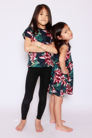 PlayDate | Honolulu Tee in Black (Unisex) (Last pieces in sizes 1 & 4)