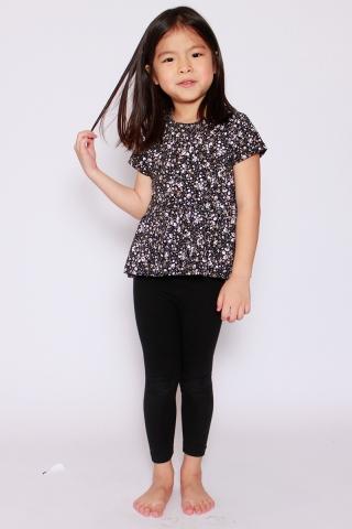 PlayDate | Galaxy Blossom Peplum Top (Little Girl)