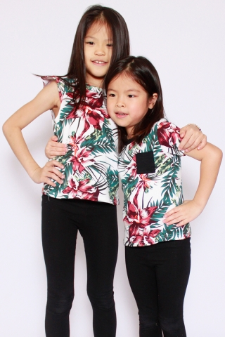 PlayDate | Honolulu Frills Top (Little Girl)