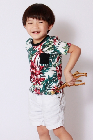 PlayDate | Honolulu Tee in White (Unisex)