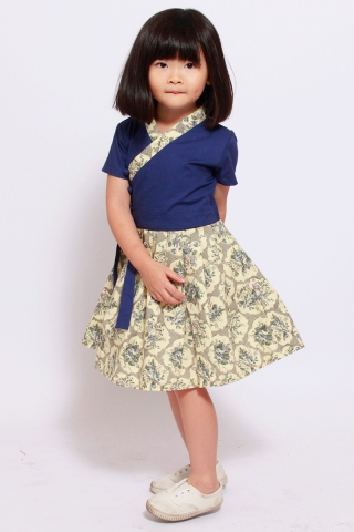 Dorothea Hanbok in Bluebell (Little Girl Charm)