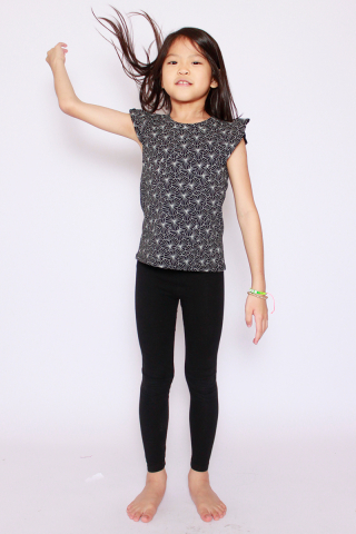 Playdate | Kabuki Frills Top (Little Girl)