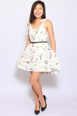 Eleonore Merry Dress in Cream