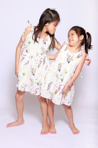 Eleonore Merry Dress in Cream (Little Charm Girl)