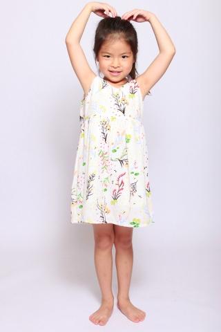 Eleonore Merry Dress in Cream (Little Charm Girl)
