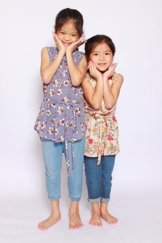 Fantine Shirt Dress in Misty Lavender (Little Girl Charm)