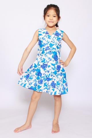Mandiana Reversible Dress in Positano (Little Charm Girl)