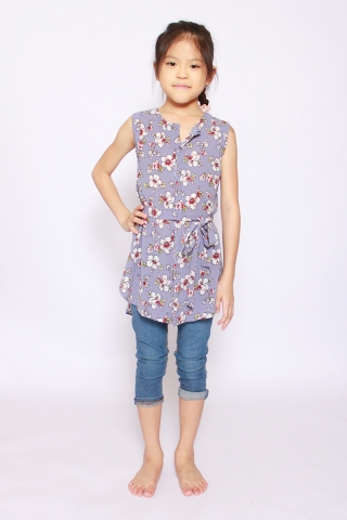 Fantine Shirt Dress in Misty Lavender (Little Girl Charm)
