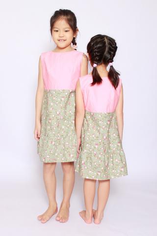 Mandiana Reversible Dress in Eden (Little Charm Girl)