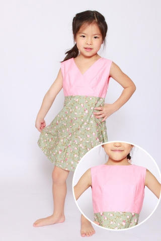 Mandiana Reversible Dress in Eden (Little Charm Girl)