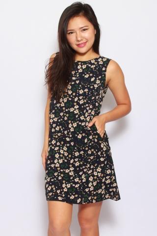 Soltis Floral Black