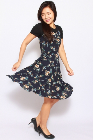 Ambre Summer Dress in Navy  (Tall)