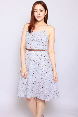 Ambre Summer Dress in Baby Blue  (Tall)