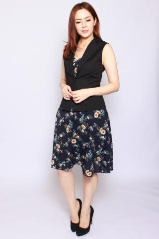Ambre Summer Dress in Navy  (Tall)
