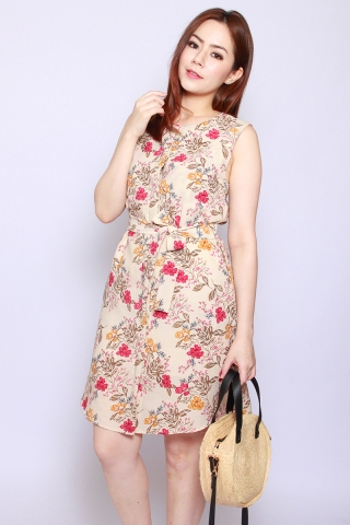 Fantine Shirt Dress in Parchment Floral (Tall)
