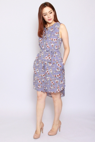 Fantine Shirt Dress in Misty Lavender (Tall)