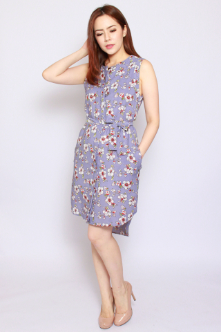 Fantine Shirt Dress in Misty Lavender (Tall)