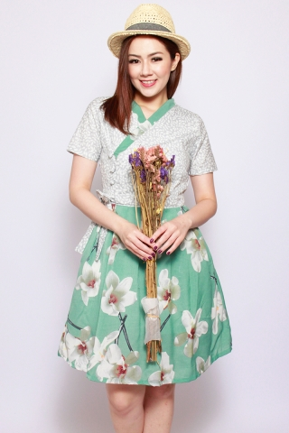 Dorothea Hanbok in Spearmint (Tall)