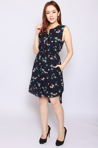 Fantine ShirtDress in Flowers in the Night (Tall)