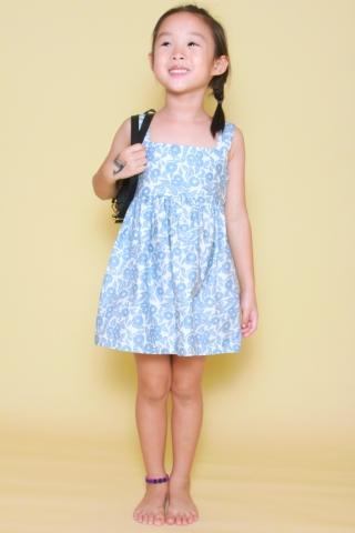 Audrey Dress in Floral Art (Little Girl)