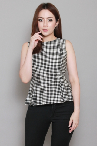 Audrey Peplum in Gingham