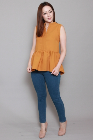 Colleen Top in Mustard