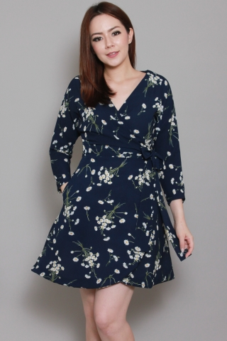 Chiara Wrap in Navy