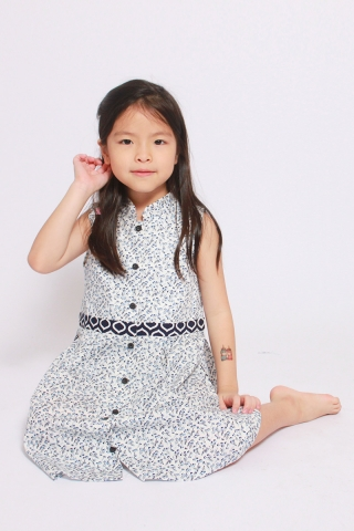 Paudia Shirtdress in Sweetness (Little Girl)