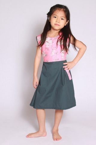 Mera Flair Dress in Pink (Little Girl)