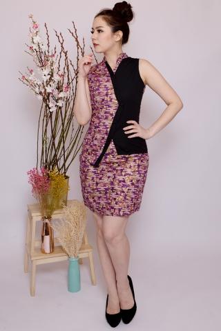 Lebaya Shimmer Skirt in Purple