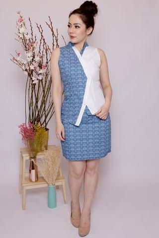 Lebaya Skirt in Batik Blue