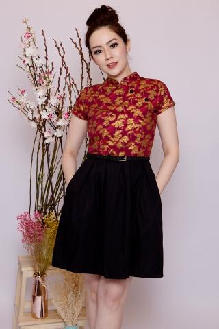 Anita Shimmer in Rich Red