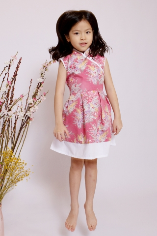 Lebaya Dress in Rosie (Little Girl)